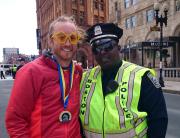 Post race happiness Boston 2014