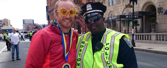 Post race happiness Boston 2014