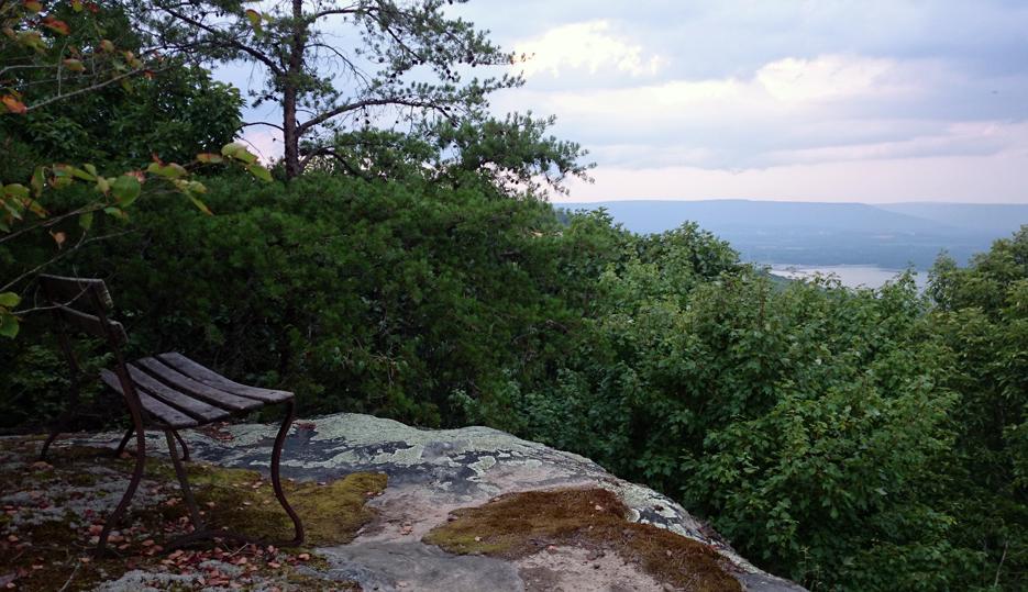 Här slutar stigen... I fjärran skymtar Tennessee   Foto: Privat